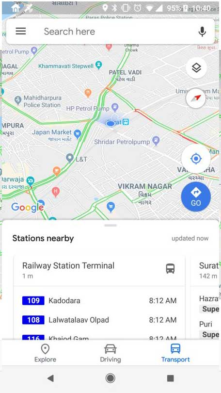 Surat Smart City Real Time Bus Tracking